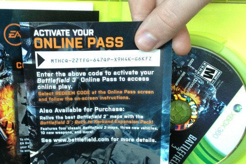 Online pass for EA's Battlefield 3