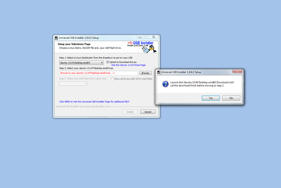 Universal USB Installer 1.9 screenshot