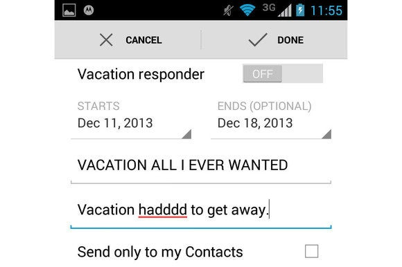 gmail vacationresponder