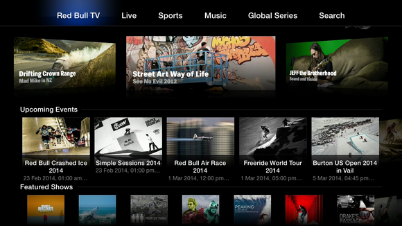 Red Bull TV channel is the latest addition to the Apple TV ...  Red Bull TV cha...