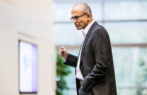 Satya Nadella dynamic talking leader