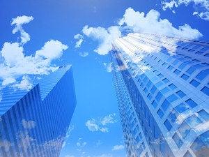 cloudy buildings