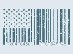 barcode american flag 96093726