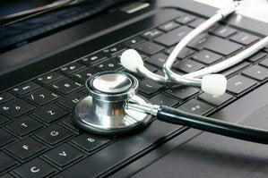 laptop keyboard stethoscope