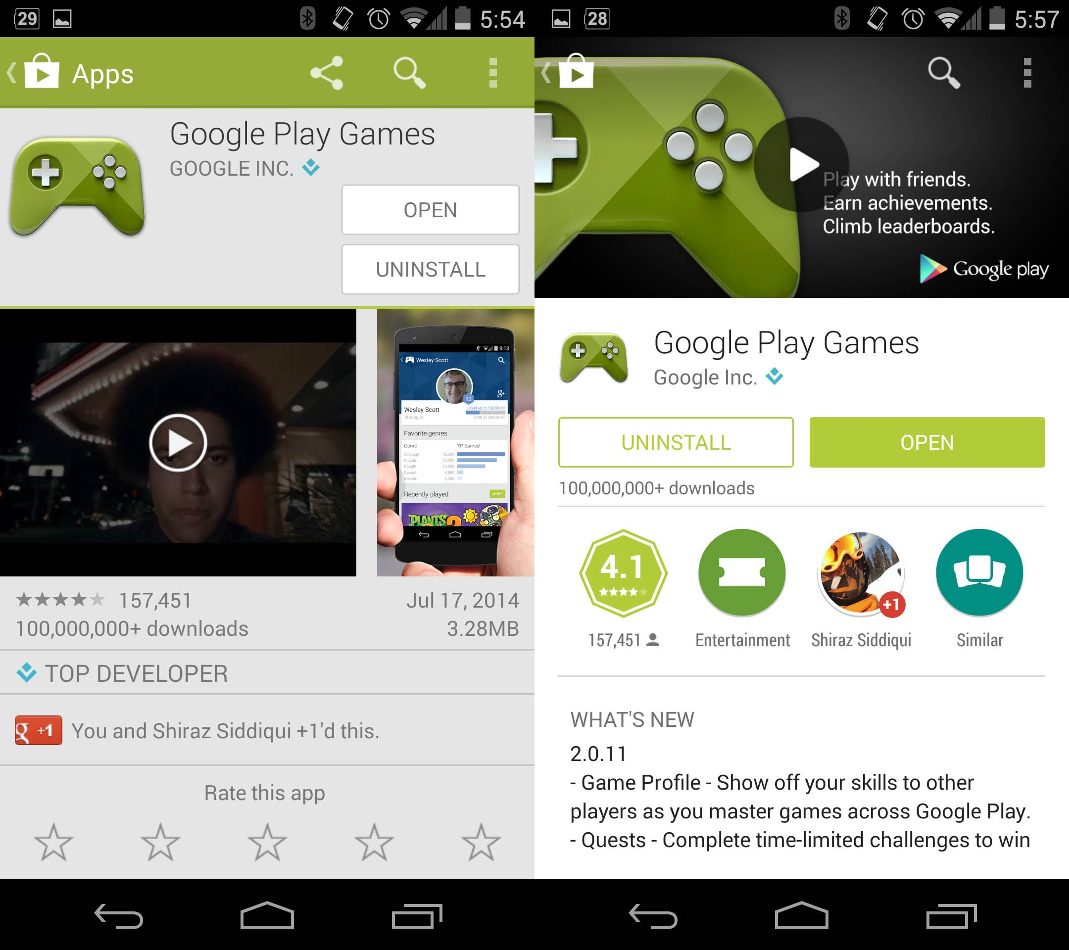 google play store update comparison