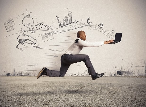 The increasingly fast speed of business-computing-technology.
