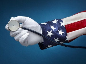 Uncle Sam holding stethoscope