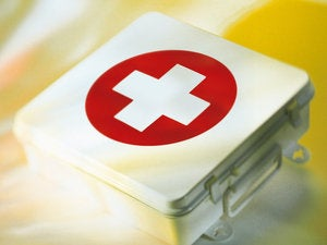 First-aid kit medicine remedy fix cross
