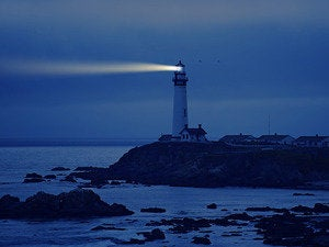 lighthouse night warning