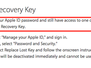 lost recovery key apple