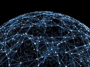 networked globe connections links light world