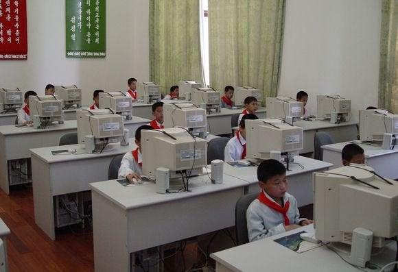 north korea computer kids