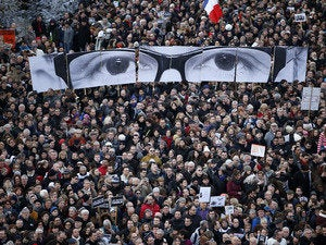 charlie hebdo paris rally