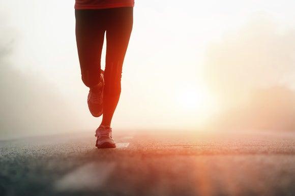 running runner road track