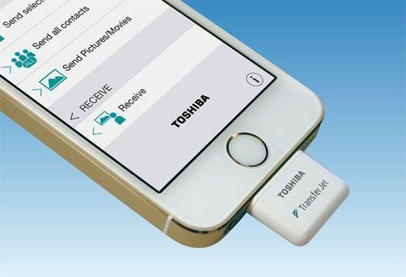 toshiba iphone transferjet