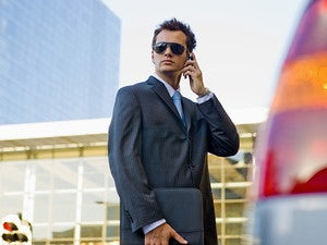 talent agent salesman slick hollywood sunglasses