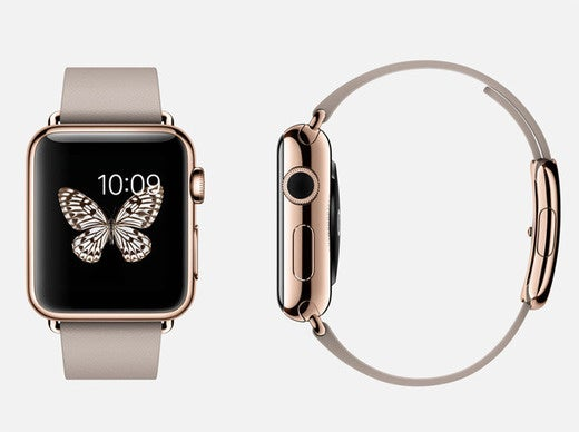 apple watch edition rose gold leather