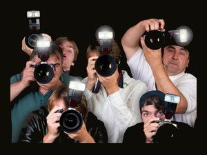 paparazzi photographers flash cameras