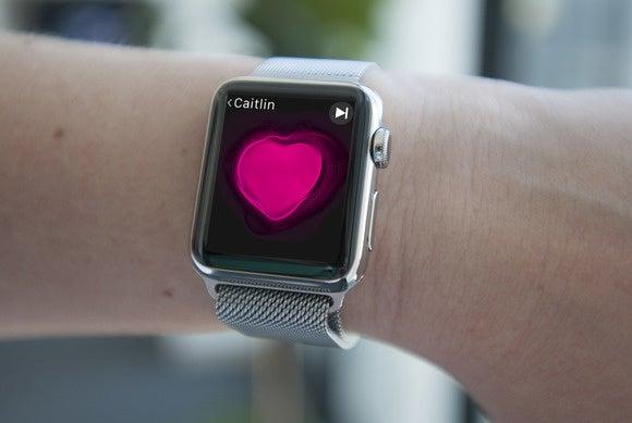 apple watch on wrist 2