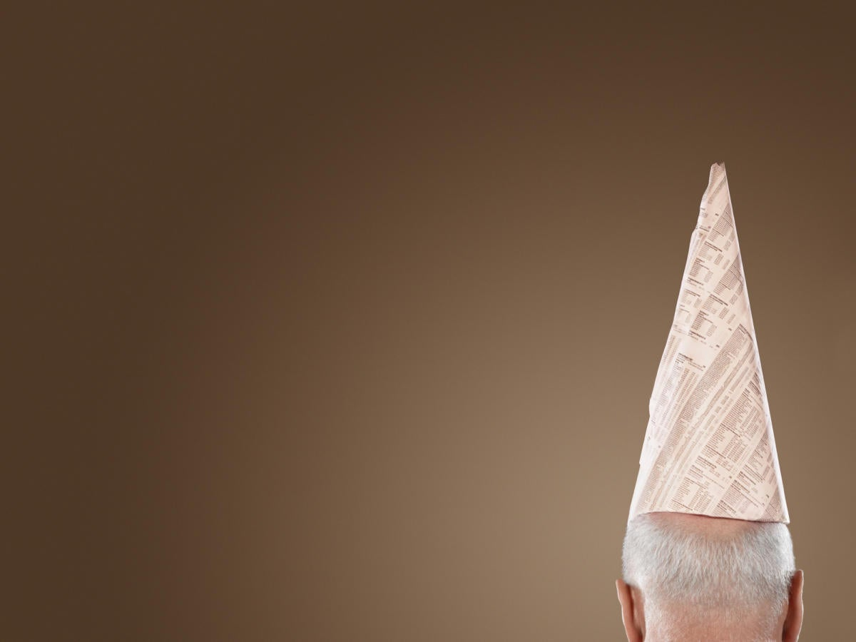 thinkstock dunce cap shame shaming