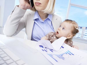 working mother and child / work-life balance