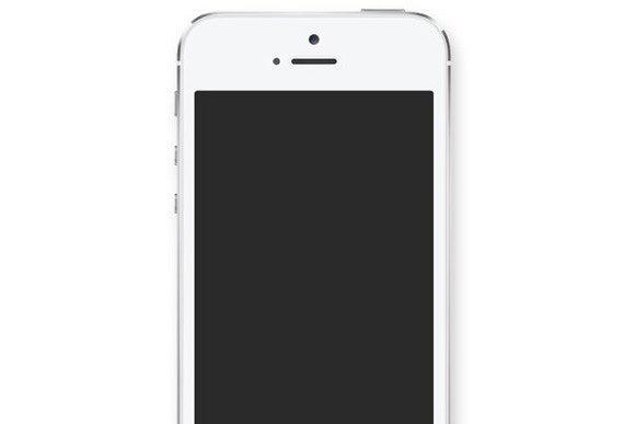 blank iphone screen
