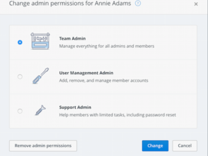 dropbox tiered admin roles