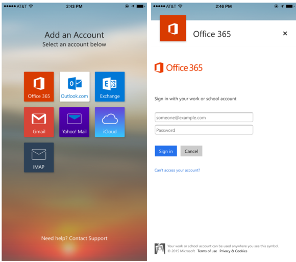 Outlook for ios and android gives office 365 users a more for Window 365 login