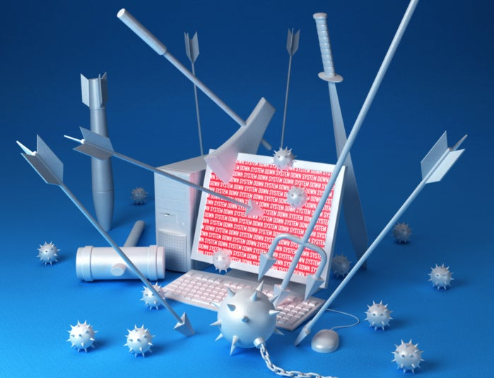 cyberattack stock image