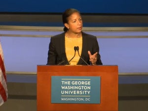 susan rice at GWU