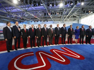 GOP candidates at debate no. 2
