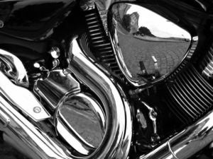 motorcycle reflections shiny chrome