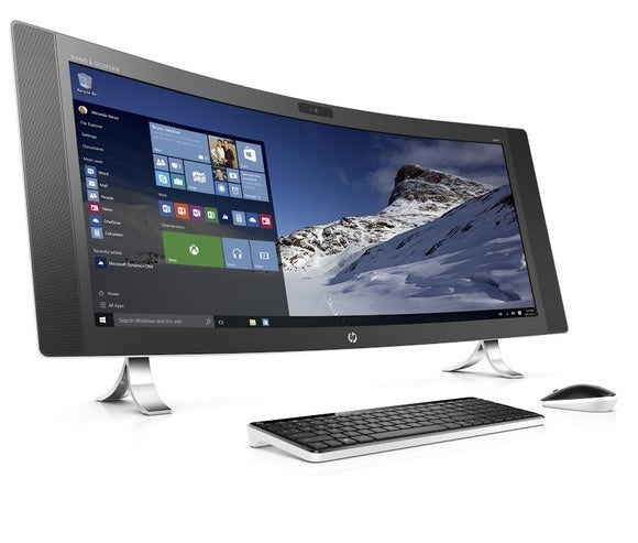 hp envy curved all in one right facing