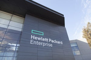 HP Hewlett Packard Enterprise new signs