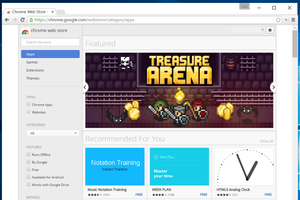 The Chrome Web Store's main storefront