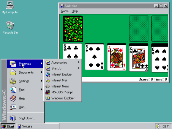 Windows 95 Spiele