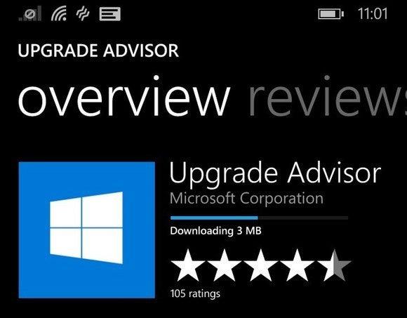 Microsoft windows 10 mobile upgrade advisor