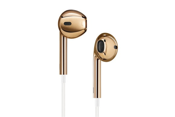 solid rose gold apple earpods