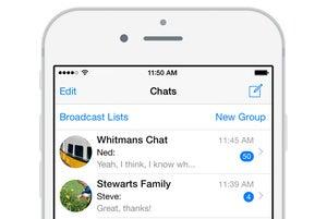whatsapp iphone screen