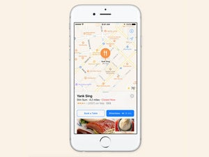 ios 10 maps third party extensions opentable