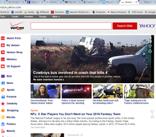 A look at the new Verizon/Yahoo homepage