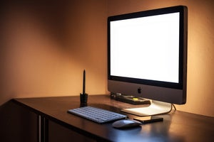 imac blank screen stock