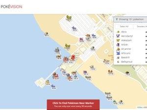 pokevision map Pokémon Go