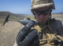 The U.S. Marines are testing a pocket-sized helicopter drone