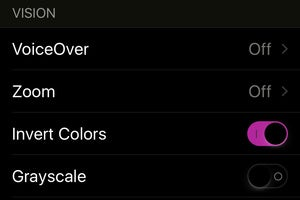 invert colors ios9 setting