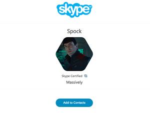 Microsoft Skype Spock