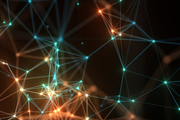 colorful neon networking background