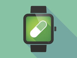 smart watch with medicine healthcare