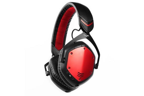 V-Moda Crossfade Wireless with red shields