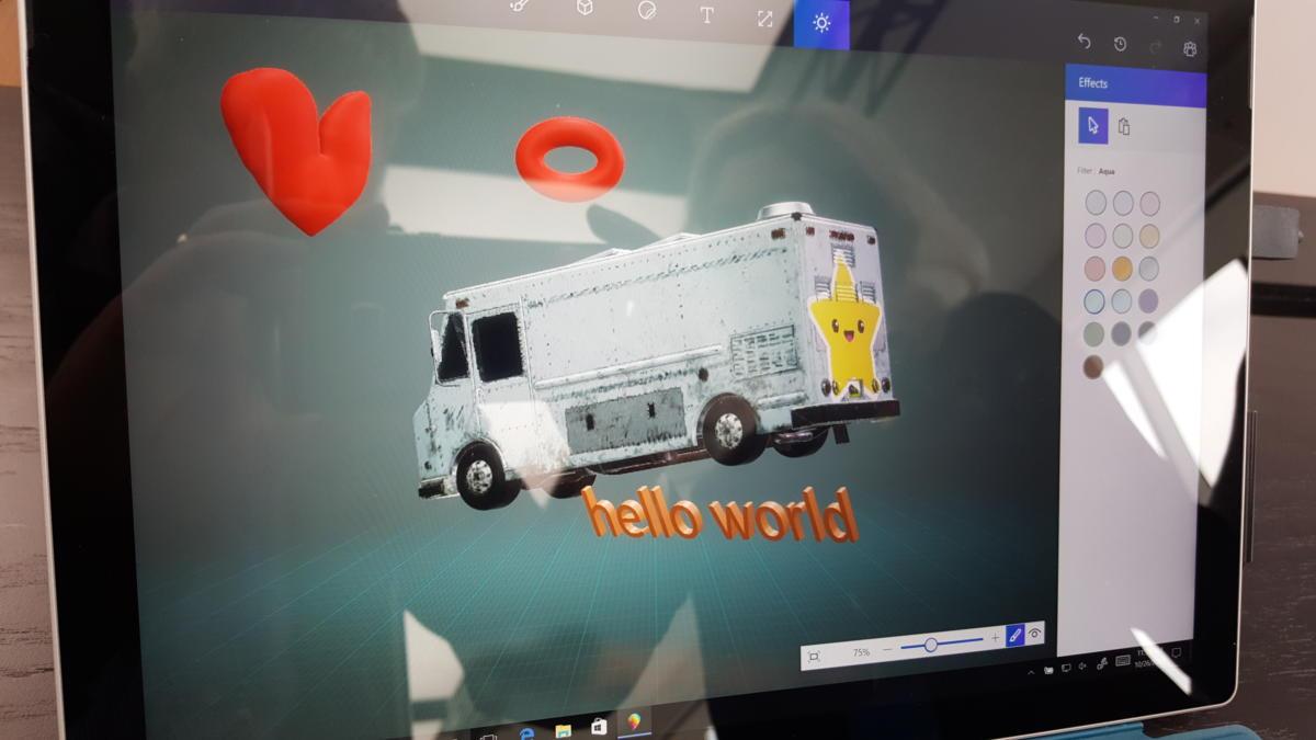 Paint3D burrito truck PCWorld Microsoft